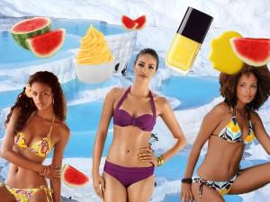 bikini sister suprise chanel mimosa gelb melone triangl