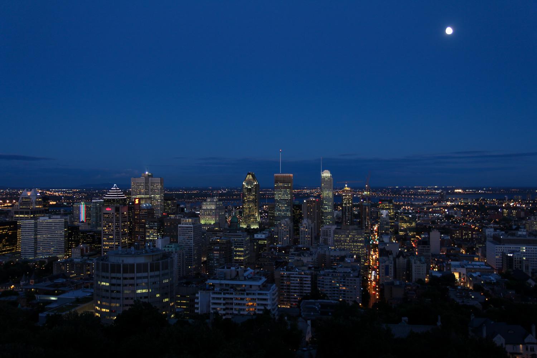 montreal, canada, travel, reise, tipps, fashion blog, sighseeing, sehenswürdigkeiten, mount royal, nacht, skyline