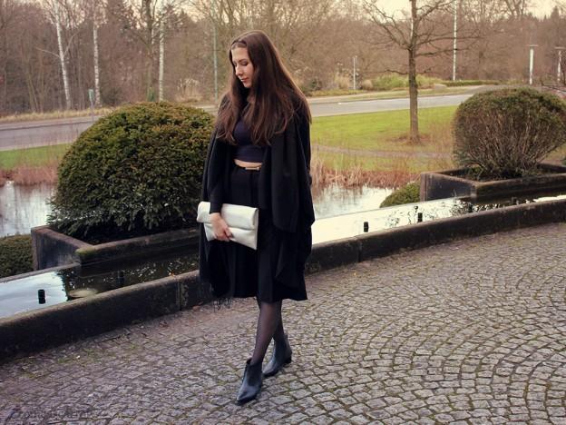 outfit, crop top, culotte, black, deals.com, winter fashion challenge, urban outfitters, buffalo, asos, gerry weber, essen, clutch