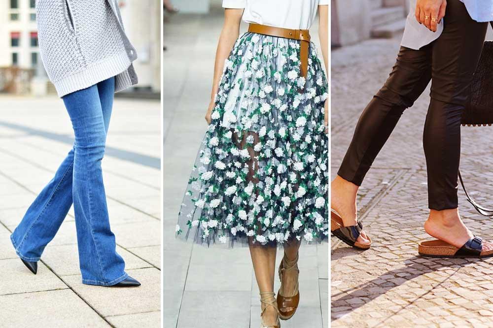 shopping, spring, picks, midi, skirt, rock, leggings, leather, flared, jeans, schlaghose