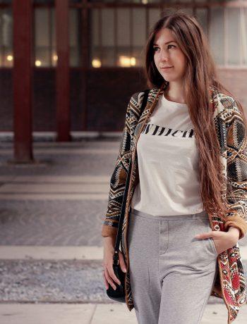outfit, mango ethno blazer, ethno jacket, jogger, pants, jogginghose, reebok classic, white, sneaker, joop, tasche, kombinieren, wie trage ich, jogging, trend, modeblog, fashionblog, fashion blog, essen, düsseldorf, nrw, mode blogger, deutschland